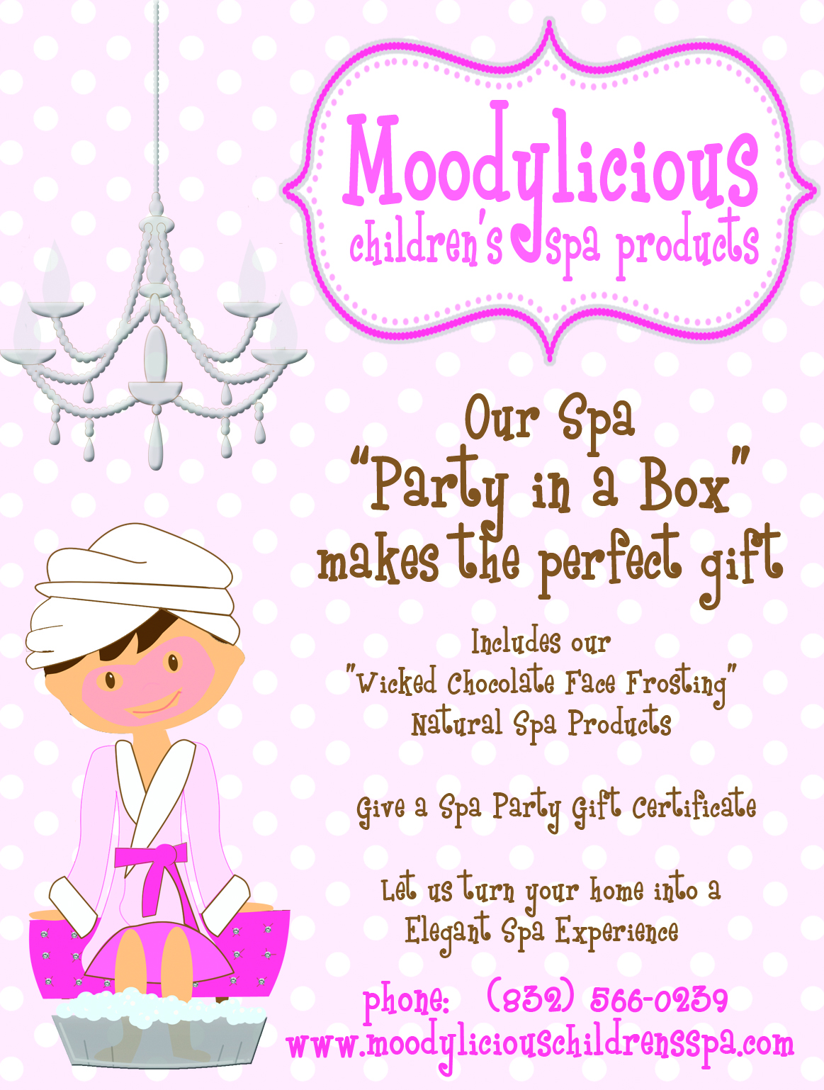 Moodylicious Spa Parties in Houston Texas | Moodylicious Children\'s Spa